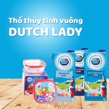 Thố Thủy Tinh Vuông Dutch Lady